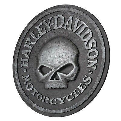 "Harley-Davidson® Motorcycles 18"" Round 3-D Sculpted Skull Pub Sign HDL-15311"