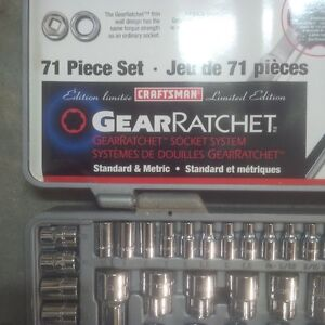 Craftsman 71 Piece Socket set
