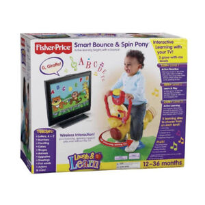 RARE Fisher Price Laugh and Learn Bounce & Spin Pony