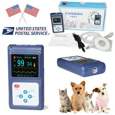 Usa Fda Veterinary Pulse Oximeter Vet Tongueear Clip Probe Oled Usb Pc Software