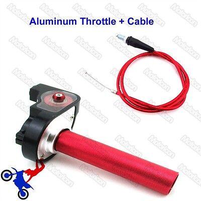 70cc Pit Dirt Bike - Red Twsit Handle Throttle Cable For Pit Dirt Motor Bike 50cc 70cc 90cc 110cc