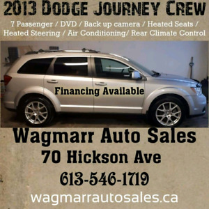 2013 dodge journey crew. Was $10550, now $ 9550