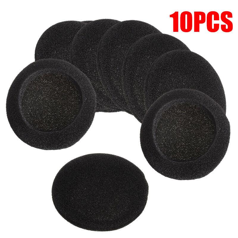 10x 50mm Replace Soft Foam Ear Pad Sponge Cushion Headphone