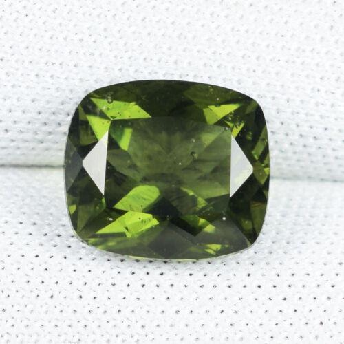 2.19 ct RAREST OLIVE GREEN NATURAL TEKTITE MOLDAVITE  Cushion  See Vdo # 3881 BC