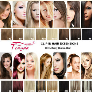CLIP-IN-REMY-REAL-HUMAN-HAIR-EXTENSIONS-7PCS-FULL-HEAD-15COLORS-ANY-LENGTH-US