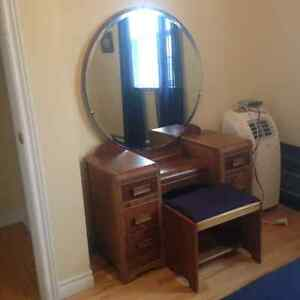 Antique Dressing/Make Up Table and Stool