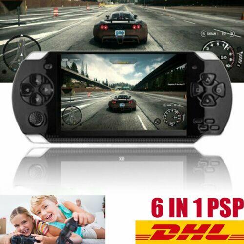6 IN 1 PSP Tragbarer Handheld Videospiel Konsolen Spieler Geschenk für Kinder DE