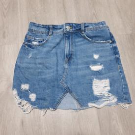 Zara Denim Skirt XS