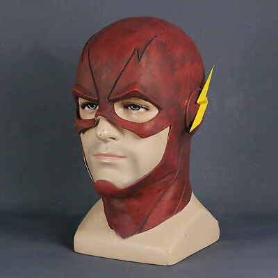 USA Red Arrived The Flash Allen Cosplay Helmet Halloween Full Face Latex Mask - Flash Mask