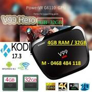 4GB RAM/32GB Smart TV Box Android V99 Hero Octa-core 4K KODI WIFI Noble Park Greater Dandenong Preview