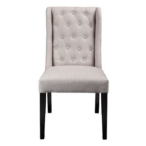 Button Tufted Back Dining Chair