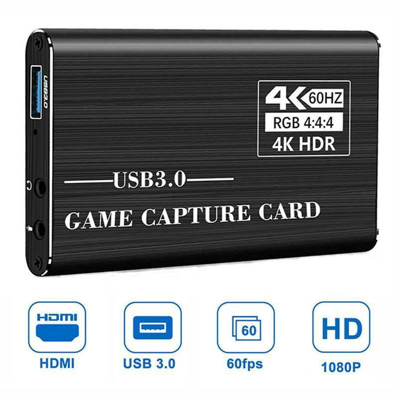 4K 1080p HDMI to USB 3.0 Video Capture Card Game Live Stream