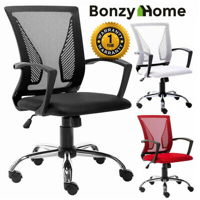 Office Chair Executive Home Computer Desk Seat Task Chair Adjustable Swivel Mesh