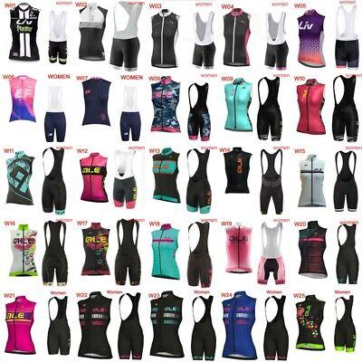 2019 cycling sleeveless vest jerseys bike shirt summer Women bib shorts set D82 ()