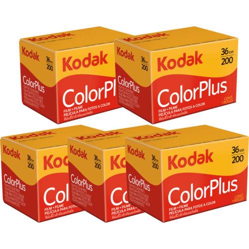 5 Rolls Kodak ColorPlus 200 135-36 Exp. Color Plus 35mm Color Film, US SELLER
