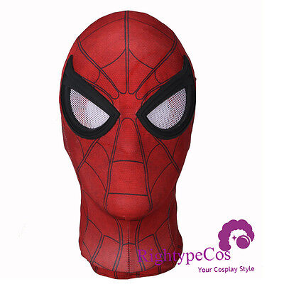 US SHIP Adult SpiderMan Homecoming Mask Tom Holland Spiderman With The Best Lens - Spiderman Masks