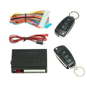 Universal Car Remote Central Kit Door Lock Auto Safety Keyless Entry System &Key