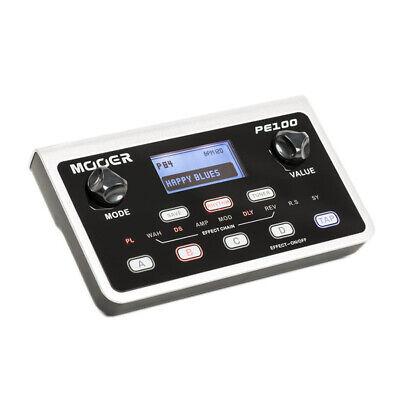 Mooer PE100 Guitar Desktop Table Multi Effects Pedal Touch Screen w/ LCD Show UK
