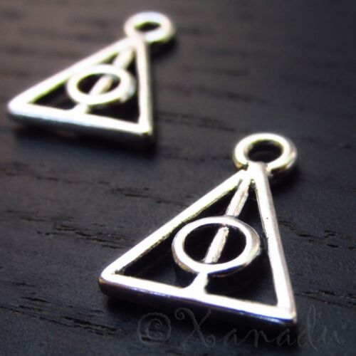 Deathly Hallows 16mm Antiqued Silver Harry Potter Charms C1642 - 10, 20 Or 50PCs