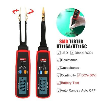 Uni-t Smd Multimeter Auto Range Led Zener Dcv Continuity Battery Tester