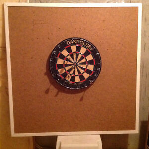 "Dart board on 46"" framed back board"