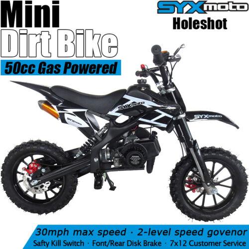 SYXMOTO Holeshot Mini Dirt Bike Gas Power 2-Stroke 49ccMotor