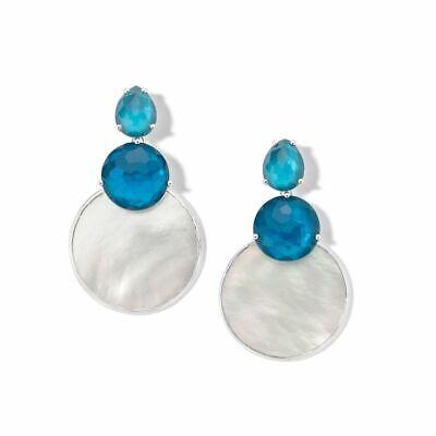 IPPOLITA 925 sterling silver Wonderland Snowman Earring blue moon NEW $895