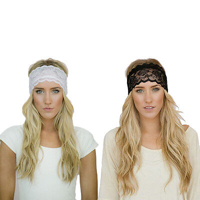 Lace Elastic Sports Headbands For Women Hair Accessories Turban Casual - Lace Headbands For Adults