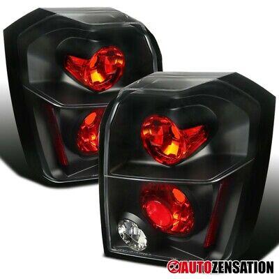 For 2007-2012 Dodge Caliber Black Tail Lights Brake Turn Signal Lamps Pair