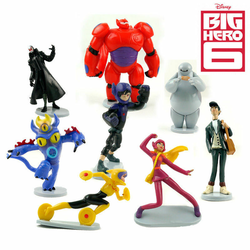 9pcs Disney Big Hero 6 Baymax Action Figure Kid Figurines