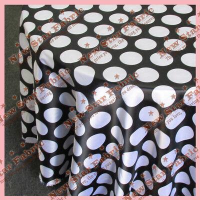 Black White Polka Dot Tablecloth (Tablecloth 90