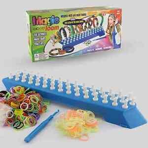 800 Colourful Glow In The Dark Magic Rubber Loom Bands Bracelet Making Kit Set