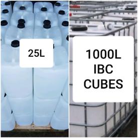 1000L 1000 L IBC TANKS CUBES 25L 25 LITRE WATER CONTAINERS DRUMS JARS