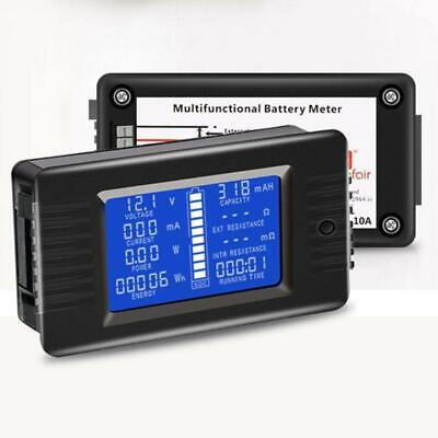Dc Multimeter Ammeter Power Voltage Current Energy Time Meter Monitor