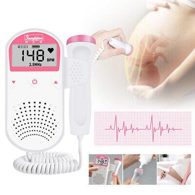 Prenatal Fetal Doppler Baby Heartbeat Monitor Ultrasonic Detector 2.5 Mhz Probe