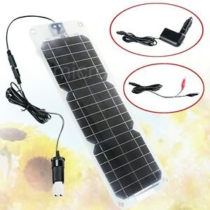 New-Semi-flexible-18V-10W-Monocrystalline-Silicon-Solar-Panel-Battery-Charger