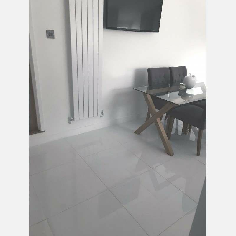 White Polished Porcelain Floor Or Wall Tiles In Sighthill