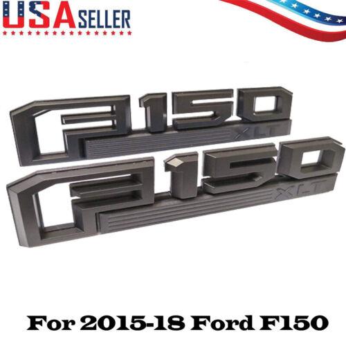 For 2015-2018 Ford F-150 XLT Red /& Black Fender Tailgate Emblems 2 Piece Kit OEM