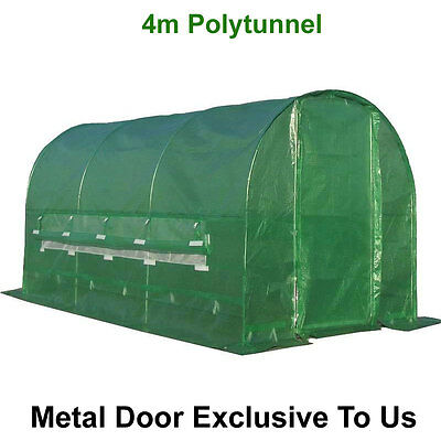 Polytunnel 4m x 2m Galvanised Pollytunnel Polly Tunnel Greenhouse Green House