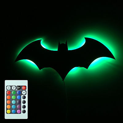 Batman Logo Mirror Wall Light Dark Knight Bat Symbol Logo Led Wall