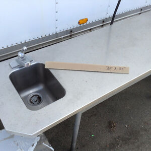 "STAINLESS STEEL SINK/TABLE 72""X24"""