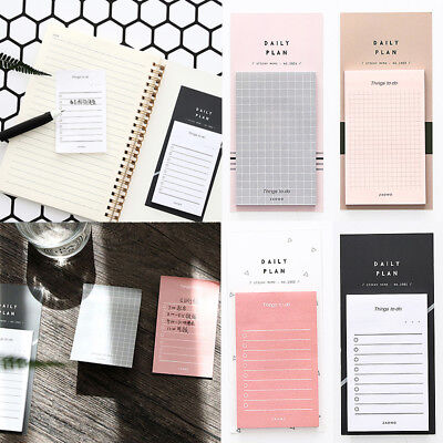 Plan To Do List Memo Pad N Times Sticky Notes Stationery Office School Bookmark