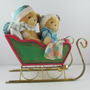 """Cherished Teddies """"Bundle Up For The Holidays"""" Musical Sleigh"""