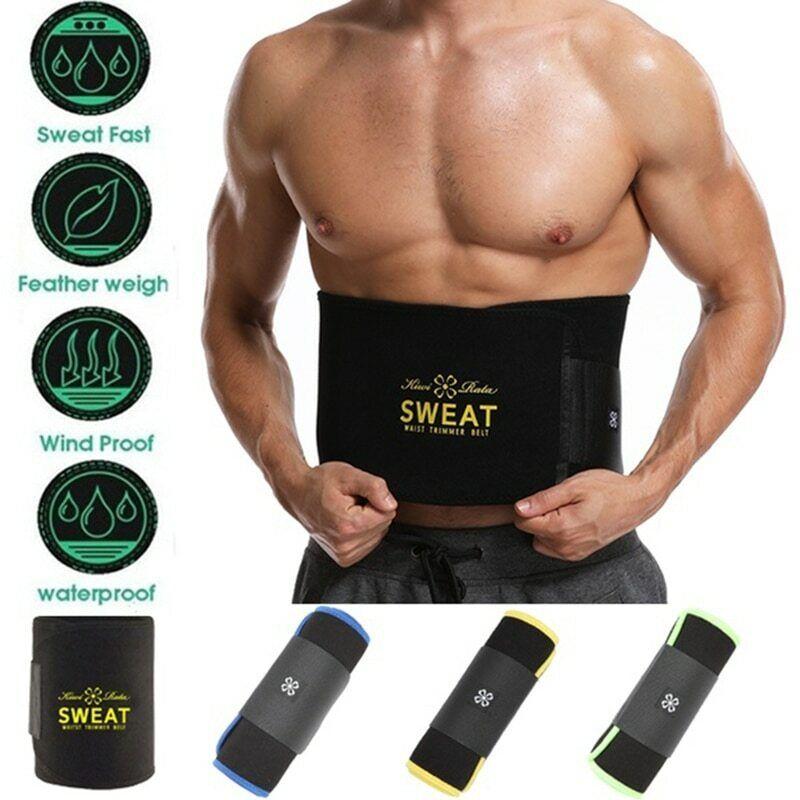 Sauna Slim Belt for Men Sweat Neoprene Waist Trainer Fat Bur