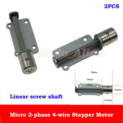 2pcs Dc 5v 2-phase 4-wire Micro 6.5mm Stepper Motor Stepping Motor Linear Screw