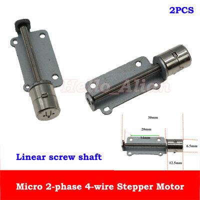 2pcs Dc5v 2-phase 4-wire Micro Stepper Motor Mini Stepping Motor Screw Shaft Diy