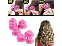 New 10X Women Hair Curler Tool Spiral Roller Silicone Curlers Hair No Heat Magic