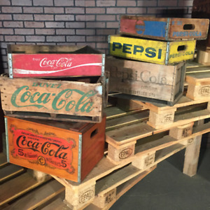 SODA POP CRATES FOR SALE