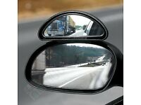 2 x Blind Spot Wide Angle Wing Mirrors