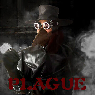 Combination packages hat Beak mask goggles Halloween cosplay Plague doctor mask - Plague Doctor Hat